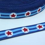Sterne blau - Design: Franca Tack - 15 mm breit - EUR 2,50/m - AUSVERKAUFT