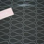 besch. Baumwolle (PVC) Au Maison - OMNIA - black- METERWARE