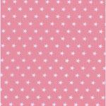 besch. Baumwolle (PVC) - Sternchen rosa
