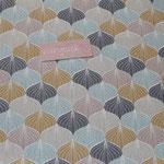 Baumwolle Au Maison - Design: Alli - Farbe: charcoal .. Muster in den Farben türkis/grün, rosa, beige, gelb, charcoal
