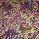besch. Baumwolle (Acryl) - Barock / Paisley - violett, gelb, pink