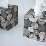 besch. Baumwolle: Weinkorken grau / natur - hier mit rosa-pink nähglück-Label NOCH ZU HABEN 3x