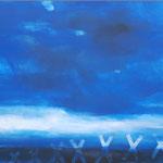 WILDER HIMMEL  200x220 cm Pigmente auf Leinwand