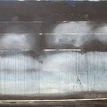SCHWARZER HORIZONT 2  200x220 cm Pigmente auf Leinwand