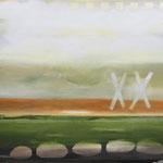 DER 7. HORIZONT  200x220 cm Pigmente auf Leinwand