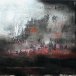 OUT OF LIFE 180x190 cm Pigmente auf Leinwand
