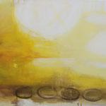 LICHTER HORIZONT  200x220 cm Pigmente auf Leinwand