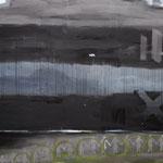 SCHWARZER HORIZONT 1  200x220 cm Pigmente auf Leinwand
