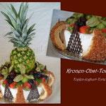 Obst-Kronentorte/Joghurt-Topfen-Torte