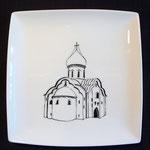 Eglise orthodoxe en Russie - 16cm (atelier)