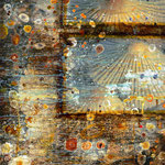 The night dances #01, Asphalt, Acryl, Wachs, Pigmente, Fotografie auf Leinwand, 115 x 75 cm