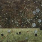 Zeiträume #04, Asphalt, Acryl, Wachs, Ölkreide, Leinwand, 80 x 100 cm
