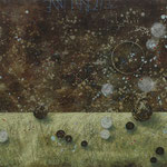Zeiträume #07, Asphalt, Acryl, Wachs, Ölkreide, Leinwand, 80 x 100 cm