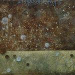Zeiträume #02, Asphalt, Acryl, Wachs, Ölkreide, Leinwand, 80 x 100 cm