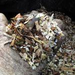 Il ricavato dalla triturazione che varia con il tipo di prodotto lavorato.