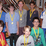 The Under 13 medal winners