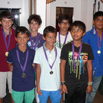 The medal winners among the Under 11 players
