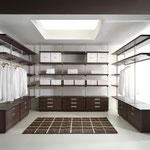 Regalsystem für Ankleidezimmer, maßgeschneidert