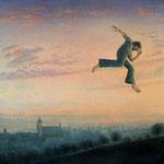 Der Sprung, (Jump),38x40cm