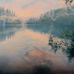 Der Waldsee,(Forest Lake),35x40cm
