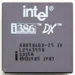 Intel A80386DX-25 IV new logo