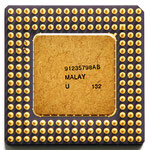 Intel A80486 DX-33 SX419 old logo