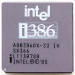 Intel A80386DX-33 IV old logo