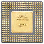 "Intel Pentium 60 MHz without ""PROCESSOR"" printing (2). SX974. This processor doesn't have the Pentium FDIV-Bug"