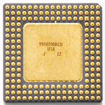 Intel 80486 DX-25 SX308 old logo