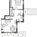 Strandhaus-Fehmarn II, Captains-Deck, Grundriss vom EG