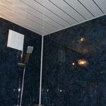 Стены - пластиковые панели Grosfillex (017), потолок - пластиковые панели (Жемчужина).