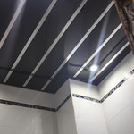 Реечный потолок в ванной Французский дизайн (А03) со вставкой