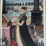Kopie des Altarbildes in Celle, im Hintergrund Schloss Gifhorn