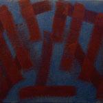 o.T., 2017 - III, Acryl auf Jute, 70 x 100 cm