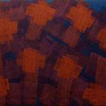 o.T., 2018 - V, Acryl auf Jute, 70 x 100 cm