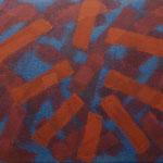 o.T., 2017 - V, Acryl auf Jute, 80 x 100 cm