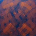 o.T., 2017 - X, Acryl auf Jute, 100 x 100 cm