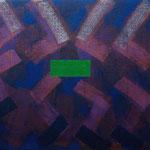 o.T., 2019 - VI, Acryl auf Jute, 80 x 100 cm