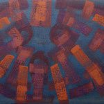 o.T., 2017 - XIV, Acryl auf Jute, 80 x 100 cm