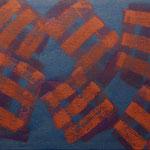 o.T., 2017 - XVI, Acryl auf Jute, 80 x 100 cm