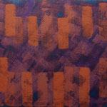 o.T., 2017 - XIX, Acryl auf Jute, 80 x 100 cm