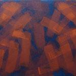 o.T., 2017 - IX, Acryl auf Jute, 80 x 100 cm