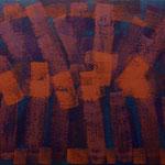 o.T., 2017 - XVII, Acryl auf Jute, 70 x 100 cm
