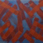o.T., 2017 - IV, Acryl auf Jute, 80 x 100 cm