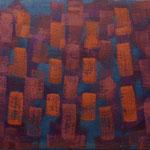 o.T., 2017 - XV, Acryl auf Jute, 80 x 100 cm