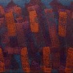 o.T., 2017 - XII, Acryl auf Jute, 70 x 100 cm