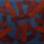 o.T., 2017 - VI, Acryl auf Jute, 70 x 100 cm