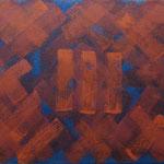 o.T., 2017 - XI, Acryl auf Jute, 80 x 100 cm