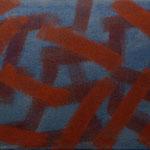 o.T., 2017 - II, Acryl auf Jute, 70 x 100 cm