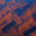 o.T., 2019 - III, Acryl auf Jute, 70 x 100 cm